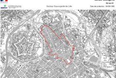 Copyright : DR - SIG DIREN Nord-Pas-de-Calais - IGN Scan 25 & Scan 100 n°7738 / Secteur Sauvegardé du Vieux-Lille