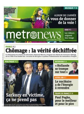 La UNE de MétroNews - 2014