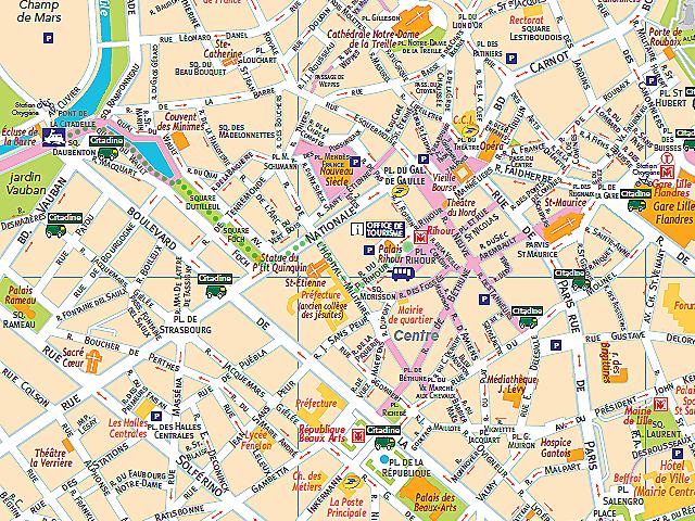 Circuits touristiques for Carte paris touristique