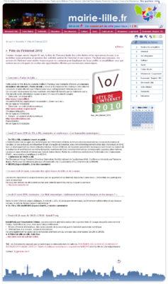 Site Internet Ville de Lille