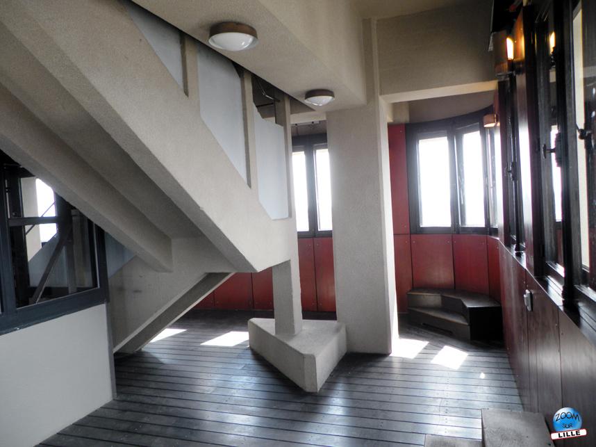 Interieur du beffroi de Lille - belvédère vitré à 68,55 mètres - Copyright Zoom Sur Lille