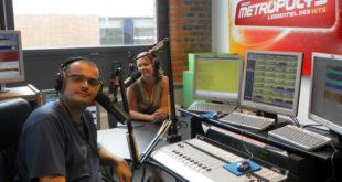 L'équipe du Morning Métropolys avec Julien Mano & Marie Dufour