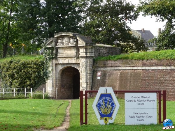 Entrée du Quartier Général du Corps de Réaction Rapide France
