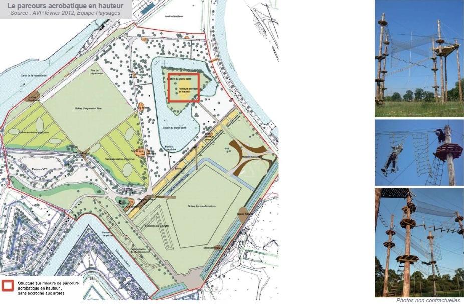 Copyright : DR / AVP février 2012, Equipe Paysages / Parcours acrobatique en hauteur