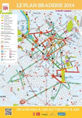 Braderie de Lille 2014 : le Plan