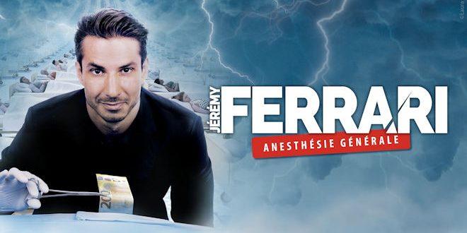 Vendredi 20 novembre 2020 à 20h, le Scénéo de Saint Omer accueillera le spectacle de Jérémy Ferrari « Anesthésie Générale »