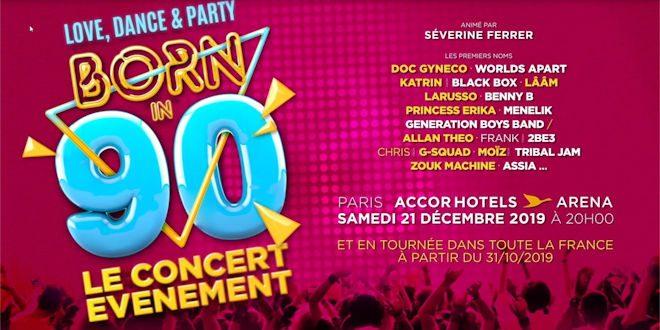 Samedi 14 décembre 2019, le Zénith de Lille accueillera le concert Born In 90