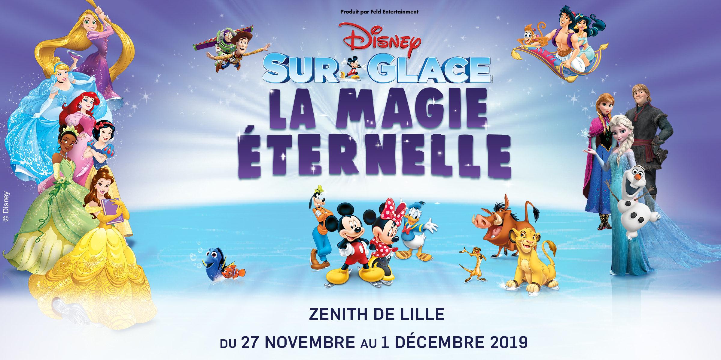 Gagnez vos places pour le spectacle « Disney sur Glace La Magie Éternelle » à Lille