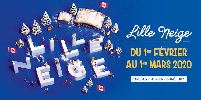 Lille Neige est de retour à la Gare Saint Sauveur de Lille du 01 février au 01 mars 2020