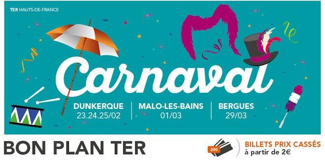 Billets TER à partir de 2€ pour aller aux Carnavals de Bergues ou Dunkerque - Zoom Sur Lille