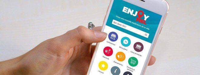 L'appli Enjoy Mel permet de localiser les fermes, les commerces ouverts, les services de livraisons à domicile…