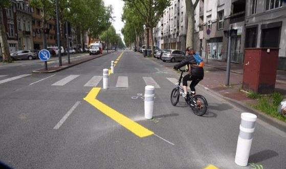 Deconfinement La Metropole Europeenne De Lille Amenage Plus De 15 Km De Pistes Cyclables Temporaires Pour Favoriser L Usage Du Velo Maj 10 05 20 Zoom Sur Lille