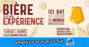 Gagnez vos places (visite + dégustation) pour visiter l'exposition Bière Expérience à Lille Grand Palais