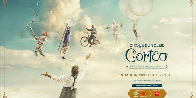 Le spectacle Corteo du Cirque du Soleil posera ses valises au Zénith de Lille du 10 juin au 13 juin 2021