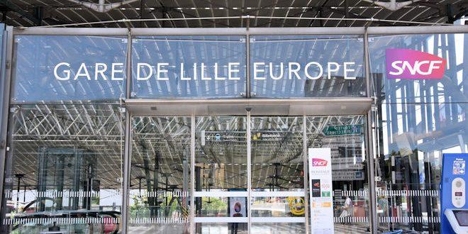 Les 13 et 14 juillet 2020, l'intérieur de la Gare de Lille Europe s'illuminera en bleu-blanc-rouge afin de marquer la fin de la 1ère phase des travaux de modernisation