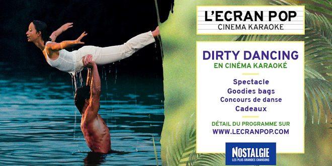 Jeudi 01 octobre 2020, le Kinepolis Lomme & L'Écran Pop organisent un Cinéma-Karaoké Dirty Dancing