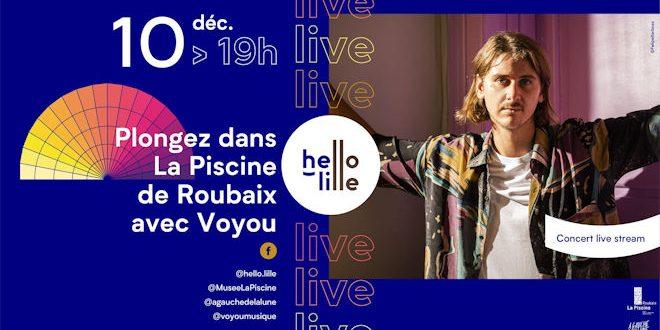 Jeudi 10 décembre 2020 à 19h, Concert en Live Stream de Voyou à la Piscine de Roubaix