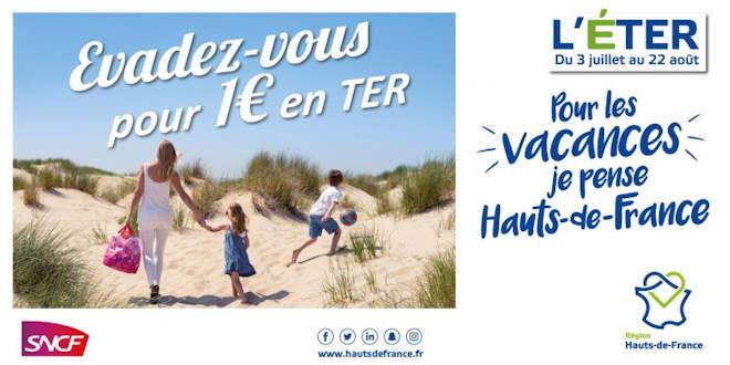 Réservation pour éTER en Hauts-de-France à partir du mardi 22 juin 2021