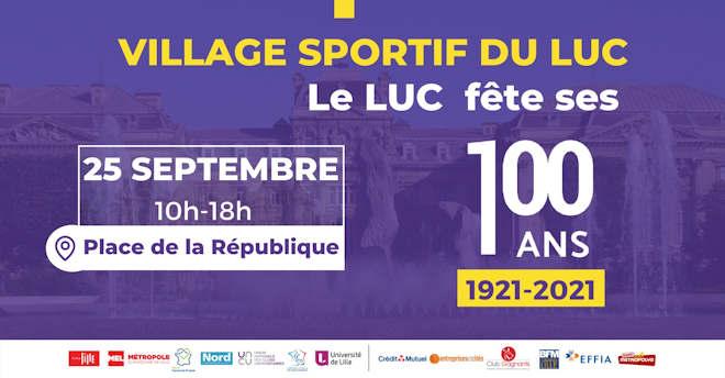 Samedi 25 septembre 2021, le LUC fête ses 100 ans sur la place de la République de Lille - Zoom Sur Lille